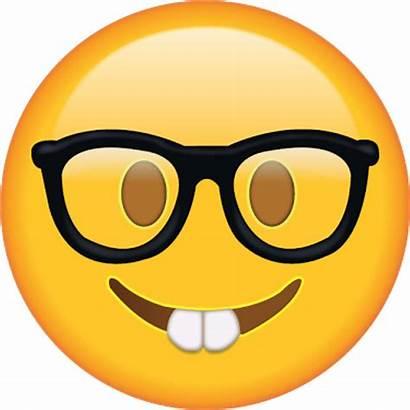 Emoji Nerd Clipart Transparent Smart Whatsapp Intelligent