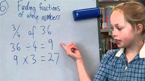 Finding Fractions Of Whole Numbers Youtube