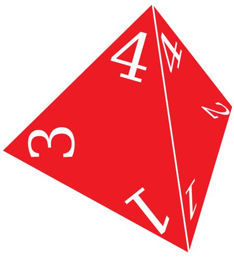 Clipart - D4, Four Sided Die