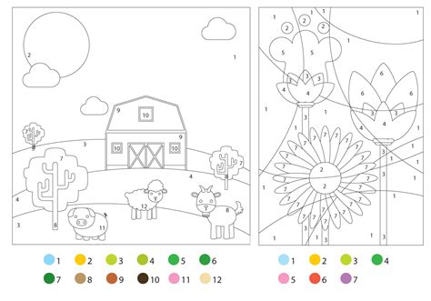 coloring pages  color guides   vector