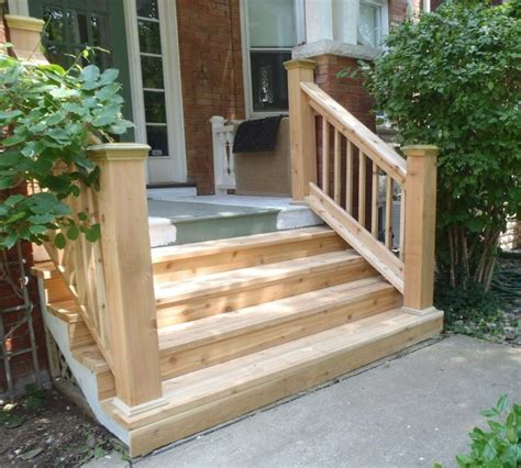 wood outdoor steps improvements and repairs front porch - Wooden Handrails For Outdoor Steps
