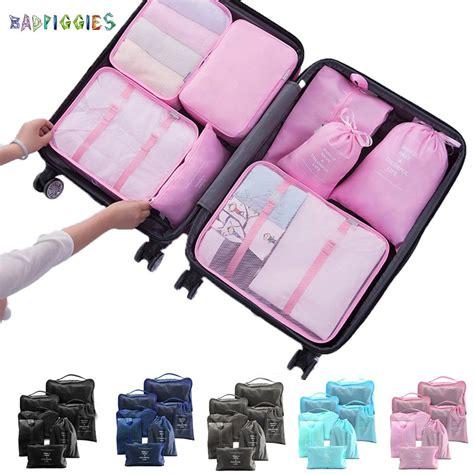 BadPiggies - BadPiggies 8Pcs Travel Luggage Organizers ...
