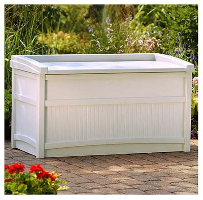 Suncast 50 Gallon Deck Box Taupe by Suncast Deck Storage Box 50 Gallon Db5500