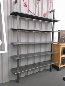 Etagere Style Industrielle : tag re biblioth que industrielle en acier sur mesure ~ Teatrodelosmanantiales.com Idées de Décoration