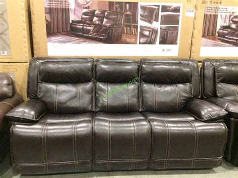 costco leather reclining sofa leather reclining sofa loveseat costcochaser