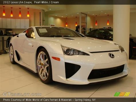 lexus coupe white pearl white 2012 lexus lfa coupe cream interior