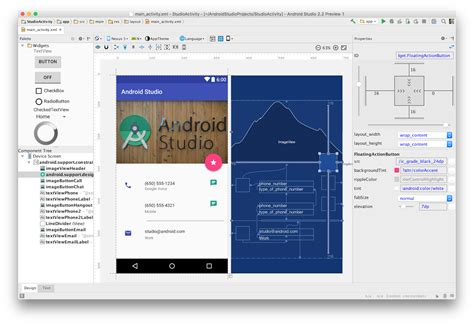 layouts for android android studio 2 2 preview new ui designer constraint