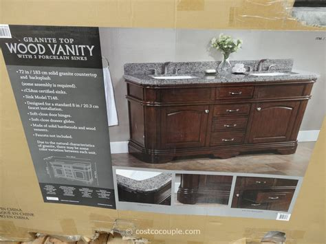 costco vanities double sink lanza 72 inch double sink vanity with granite top
