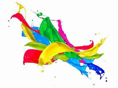 Colors Splash Paint Drops Squirt Painting Spray