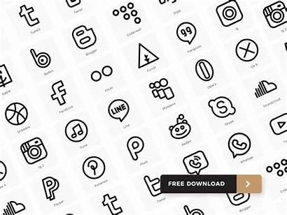 Social Icons Icon Minimal Illustrator Sets November