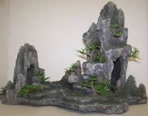 pet supplies aquarium decor ornaments osi marine lab mountain with trees large aquarium