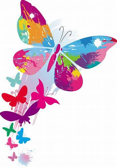 Butterflies Colorful Background Vector 07mb Graphic Eps