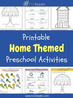 home preschool theme activities printable classroom