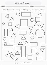 math geometry worksheets  primary math students