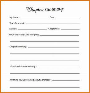 book summary template authorization letter pdf With novel notes template