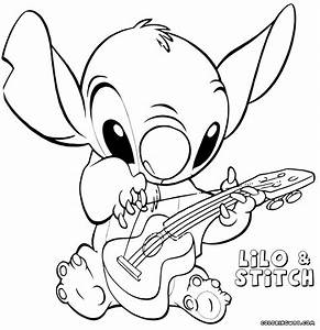 Stitch And Angel Coloring Pages