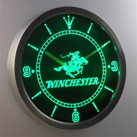 winchester led neon wall clock safespecial
