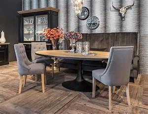 Table A Manger Industrielle : salle a manger industrielle bois metal table ovale meubles ~ Melissatoandfro.com Idées de Décoration