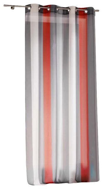 striped sheer curtain panel grommet riviera 55 quot w x 95