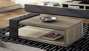 Table De Salon Moderne : table basse couleur chne gris et gris anthracite laqu contemporaine erlinda ~ Preciouscoupons.com Idées de Décoration