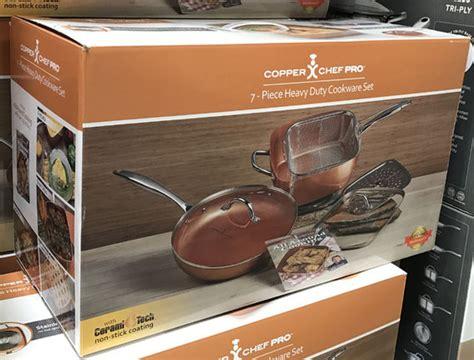copper chef pro  pc  square   fry pan  lids cookware set ebay
