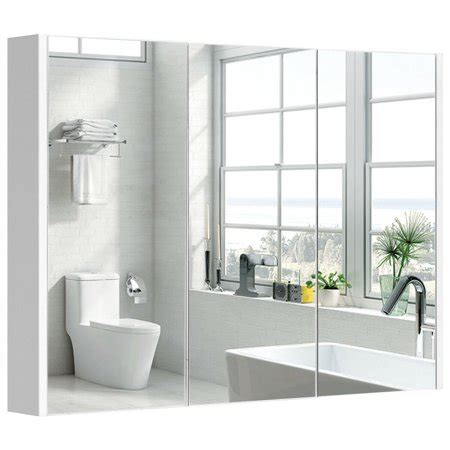 Wide Mirrored Bathroom Cabinet by 36 Quot Wide Wall Mount Mirrored Bathroom Medicine Cabinet