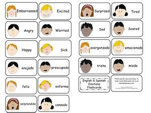 emotions flash cards in and 20 preschool 668 | s l300