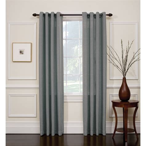 Smith Curtains Drapes - smith slate blue hopsack window panel with grommets