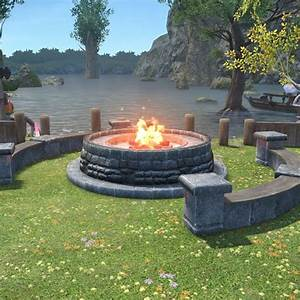 Cold Knight's Cookfire FFXIV Housing - Outdoor Furnishing
