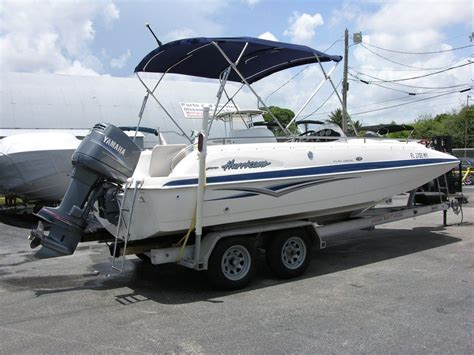 Deck Boat Yamaha by 04 Hurricane Outboard Deck Boat 201 Gs With Yamaha 150