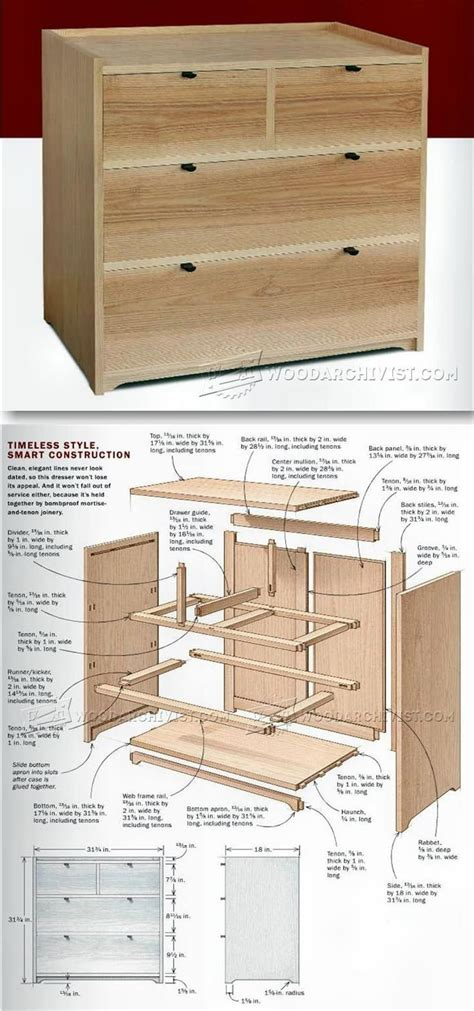 small chest  drawers plans furniture plans