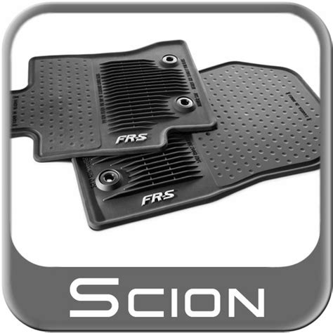 scion tc floor mats 2013 2013 2015 scion fr s rubber floor mats all weather black