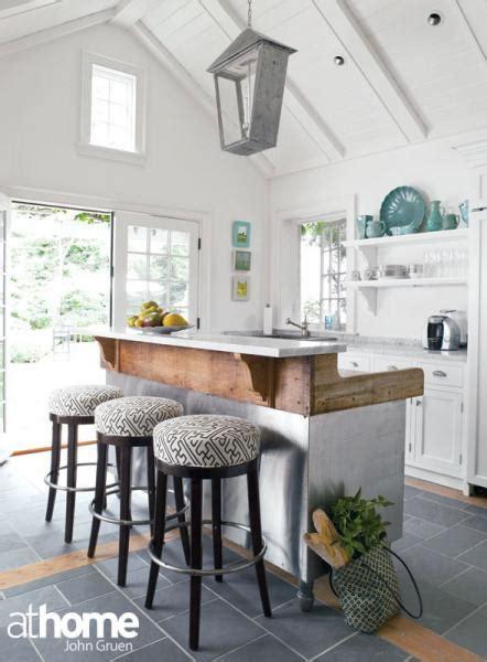 reclaimed wood kitchen island cottage kitchen
