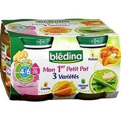 bledina 2 carottes 1 haricots verts 1 potiron des 6 mois les 4 pots de 130 gr tous les