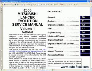 Mitsubishi Lancer 2005  Repair Manuals Download  Wiring