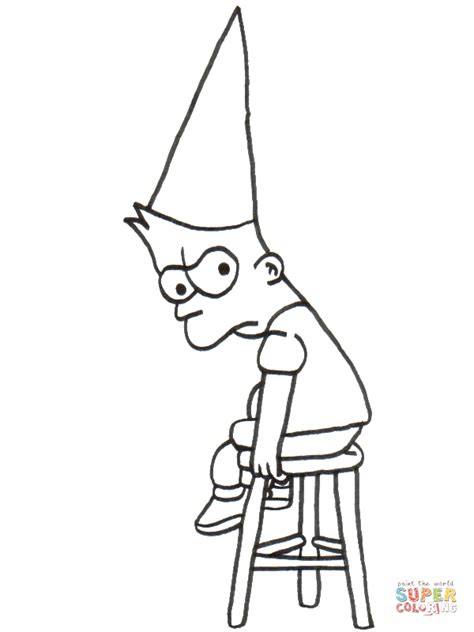 upset bart coloring page  printable coloring pages