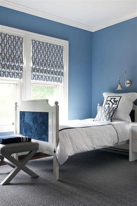 blue boy bedroom  gray accents contemporary boys room