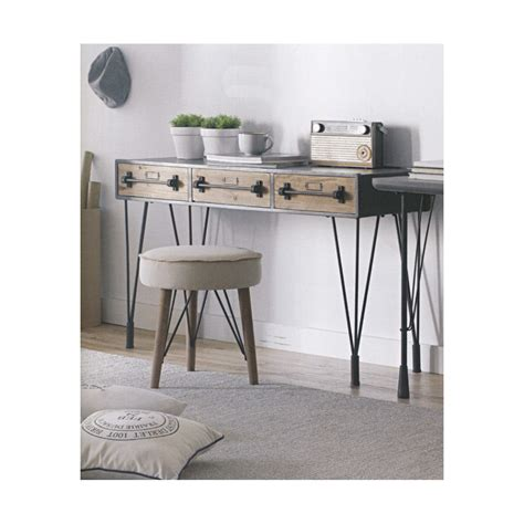 table bois et metal industriel stunning bureau bois m 233 tal industriel contemporary transformatorio us transformatorio us