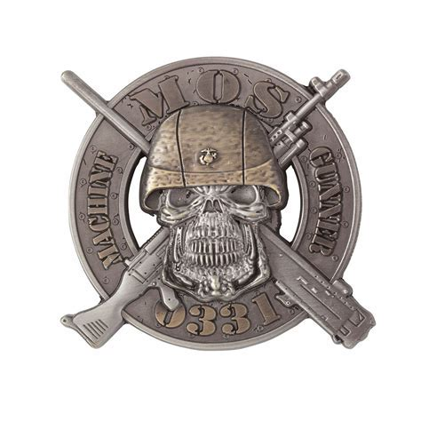 USMC 0331 Machine Gunner Coin