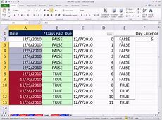 Excel Magic Trick 750 7 Days Past Due Conditional