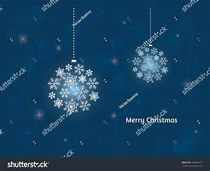Christmas Card / Blue Background Stock Vector Illustration ...