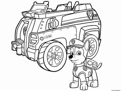 Patrol Coloring Chase Paw Police Pages Printable