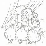 Coloring Pages Triplet Princess sketch template