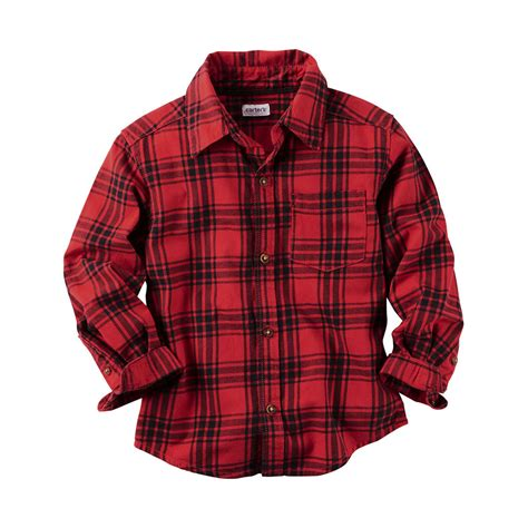 Carteru0026#39;s Toddler Boysu0026#39; Flannel Shirt Red Plaid | Toddler Boysu0026#39; Shirts u0026 Tees | Kids - Shop Your ...