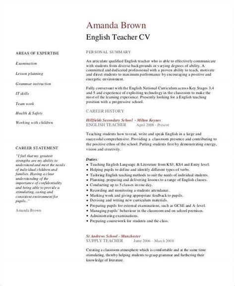 teacher resumes   word  documents