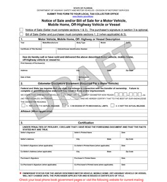 florida bill  sale form  template legaltemplates