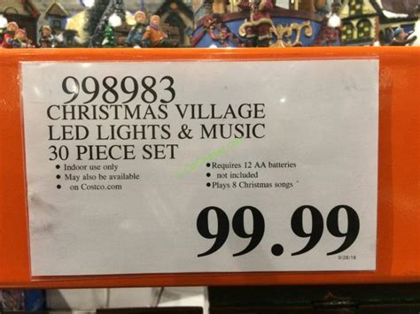 christmas village led lights   piece set