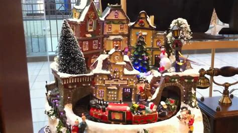 musical christmas village scene festival collections