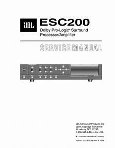 Jbl Esc 200 Processor Service Manual  U2014 View Online Or