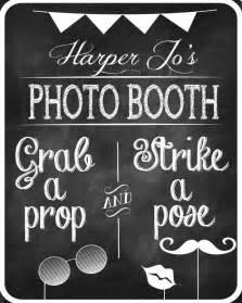 Wedding Photo Booth Chalkboard Sign